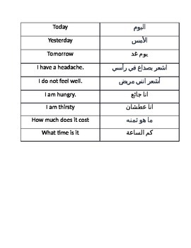 English to Arabic phrases