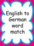 English to German Word Match