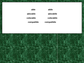 Italian Made Simple: Cognate Codes 101-Adjectives