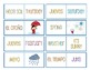 English to Spanish Dominos - Months - Days - Weather