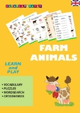 English Vocabulary for Kids. Farm Animals