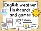 English weather flashcards and games