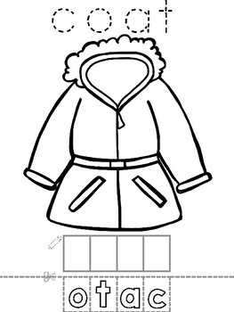 English - winter clothes - coloring activity pages by Vari ...