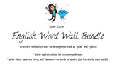 English word wall (French Immersion students)