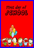 English worksheet: first day of school.