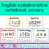 English writing centre notebook covers - class journals