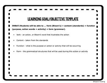 85+ English/English Language Development Objectives