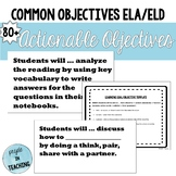 85+ English/English Language Development Objectives