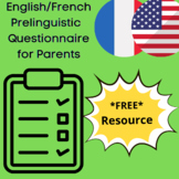 English/French Prelinguistic Language Development Questionnaire