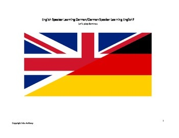 English/German Verbs domino game
