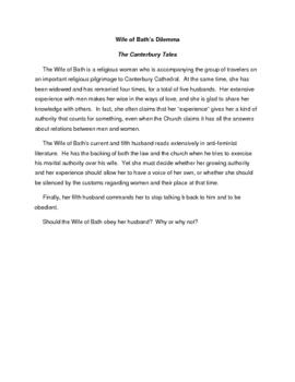 English/Literature  Wife of Bath   Canterbury Tales