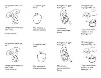 English/Spanish Folding Book - Sample
