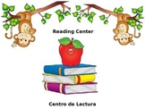 English/Spanish Monkey Themed Center Signs