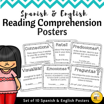 Reading Comprehension Posters {Spanish & English}