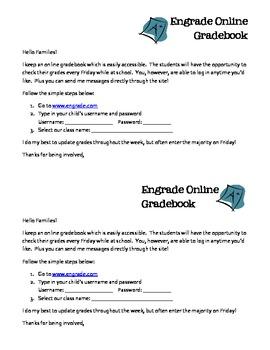 Engrade Parent Letter