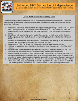 Enhanced DBQ Declaration of Independence Unit (PPTX for 1-to-1 devices)