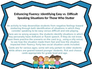 Enhancing Fluency:Identifying Easy vs Difficult Speaking Situations; Stuttering