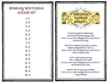 Enhancing Word Choice Task Cards