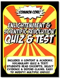 Enightenment & Scientific Revolution Quiz & Test Common Core Writing & Literacy
