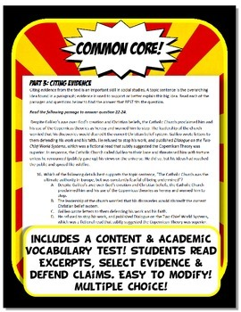 Enightenment & Scientific Revolution Quiz & Test Common Core Writing & Literacy