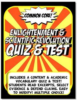 Enightenment & Scientific Revolution Quiz & Test Common Co