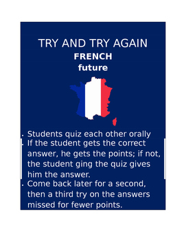 Future FRENCH Try and Try Again