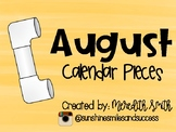 Enjoy Every Moment: August Calendar Pieces {Black on White}