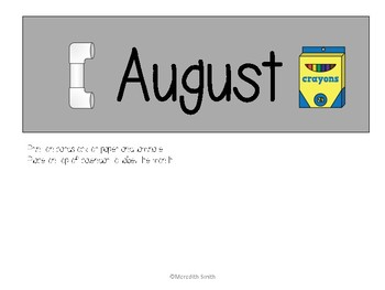 Enjoy Every Moment: August Calendar Pieces {Black on Gray}