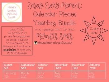 Enjoy Every Moment: August Calendar Pieces {Bundle}