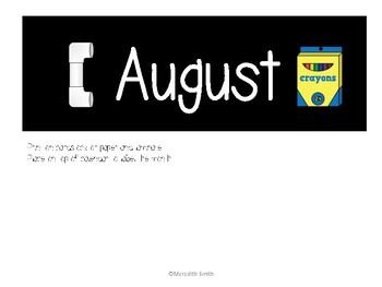 Enjoy Every Moment: August Calendar Pieces {White on Black}