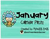 Enjoy Every Moment: January Calendar Pieces {Black on White}