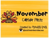 Enjoy Every Moment: November Calendar Pieces {Black on White}