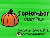 September Calendar Set