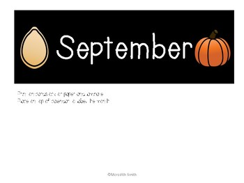 Enjoy Every Moment: September Calendar Pieces {White on Black}