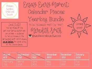 Enjoy Every Moment: YEARLONG Calendar Pieces {Gray-Bundle}