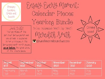Enjoy Every Moment: YEARLONG Calendar Pieces {White-Bundle}