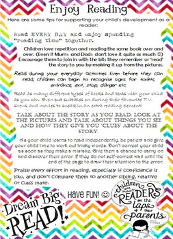 Enjoy Reading - Parent helpsheet