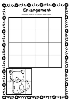 Enlargement Worksheets / Scaling Pictures / Growing Images / Stretching Bigger