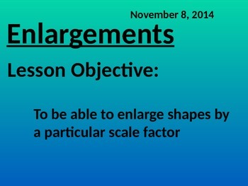 Enlargements - Transformations (Common Core Math 2)