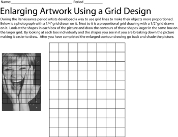 Grid drawing worksheets middle school