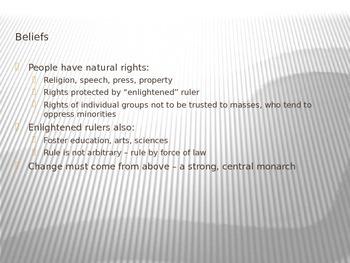 Enlightened Absolutism PowerPoint