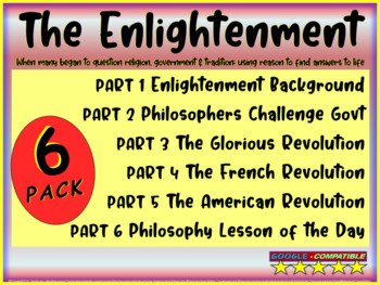 Enlightenment! (ALL 6 PARTS) Highly visual, textual, engaging 130-slide PPT