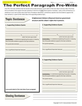 Enlightenment Common Core Writing Activity
