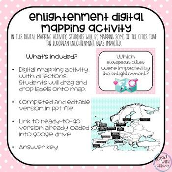 Enlightenment Digital Mapping Activity