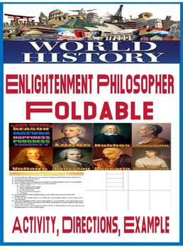Enlightenment Foldable Activity directions and Example