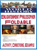World History Enlightenment Foldable Activity directions and Example