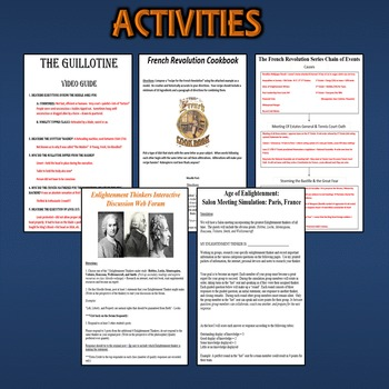 French Revolution Activity *Bundle* Enlightenment & French Rev (World History)