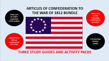 Articles of Confederation to the War of 1812 Bundle