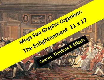 """Enlightenment Graphic Organizers 11"""" x 17""""  and 8.5 x 11 -"""