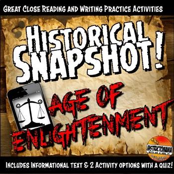 Enlightenment Historical Snapshot Close Reading Investigation